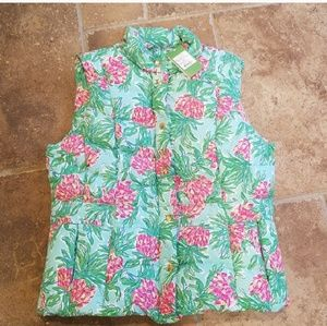 NWT Lilly Pulitzer down puffer vest